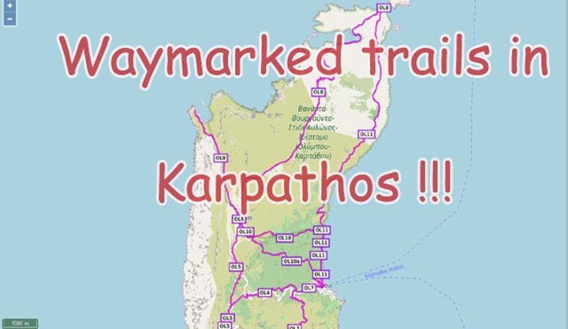 Waymarked trails in Karpathos